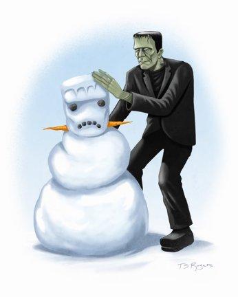 El monstruo en la nieve