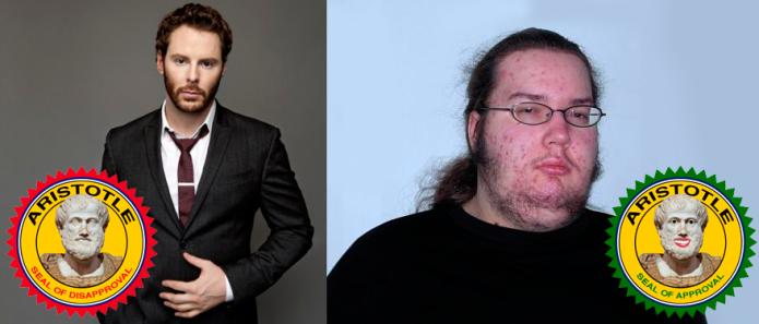 Aunque el de la izquierda es verdadero creador de Napster, solo el de la derecha es verosímil.