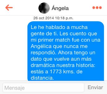(Por respeto a Ángela, desenfoqué su imagen.)