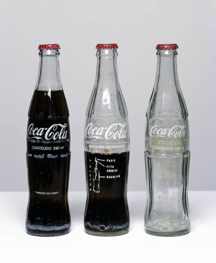 Insertions into Ideological Circuits: Coca-Cola Project 1970 by Cildo Meireles born 1948